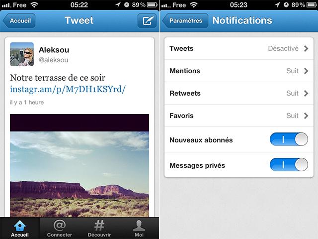 Twitter : mise à jour disponible sur iOS et Android