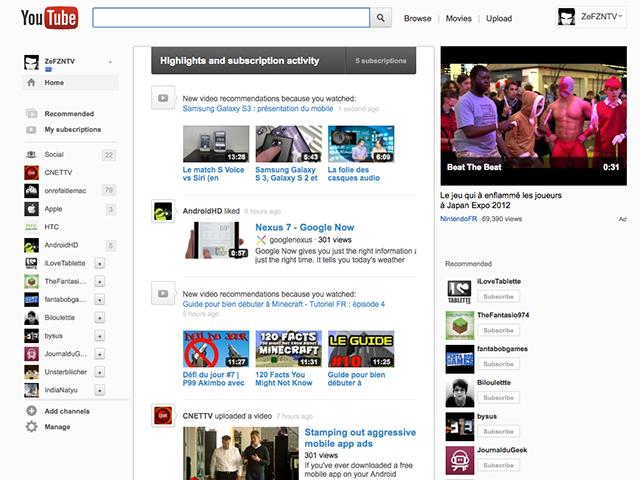 YouTube : encore une autre interface (+ astuce pour l'activer)