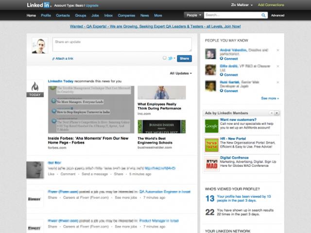 LinkedIn : une nouvelle version en cours de préparation