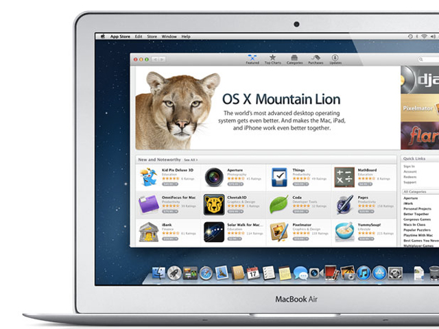 OS X Mountain Lion : la liste des ordinateurs supportés