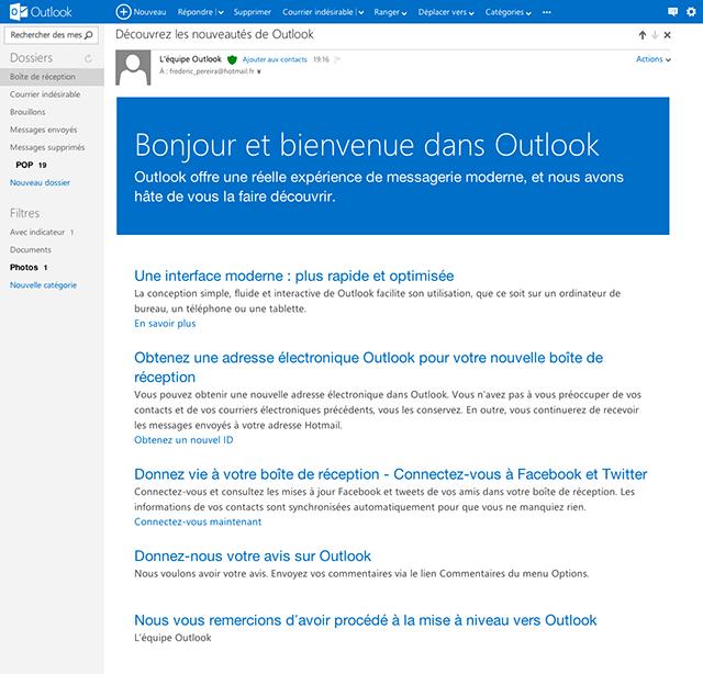 Outlook.com, le webmail 2.0 par Microsoft