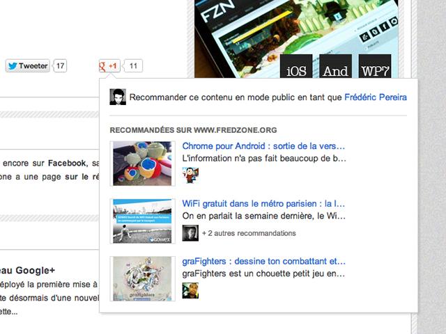 Les recommandations du bouton Google +1 disponibles pour tous !