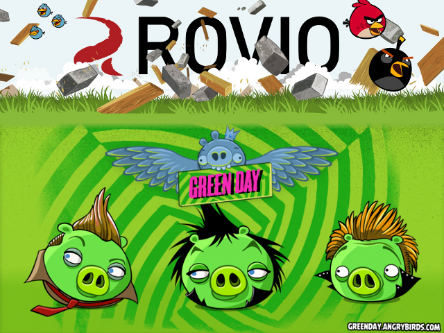 Green Day dans Angry Birds