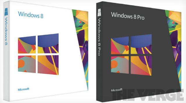 Les boites de Windows 8 en photo ?!