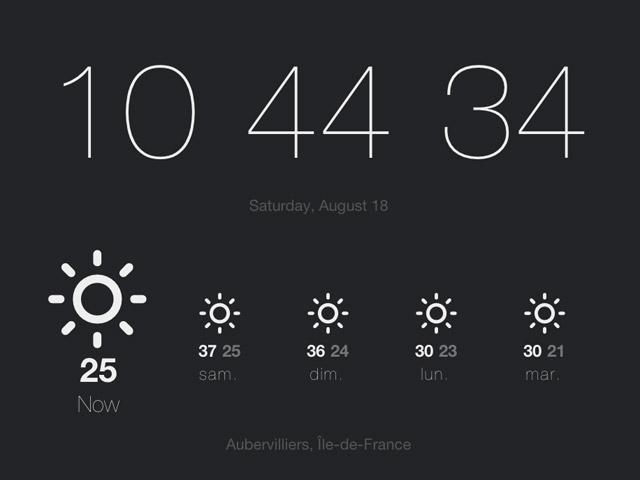 Currently : la météo directement dans Google Chrome