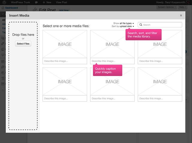 Wordpress 3.5 : un nouveau module de gestion des médias