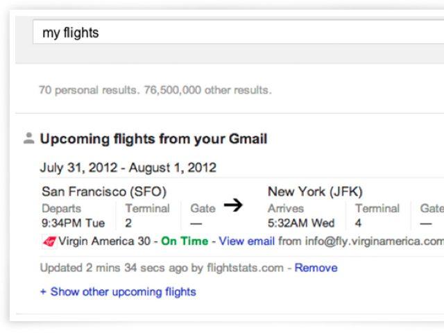 Google : intégration de Gmail dans les résultats de la recherche
