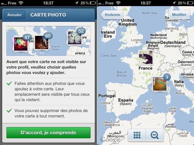 Instagram 3.0 : intégration d'une carte pour les photos et quelques changements cosmétiques