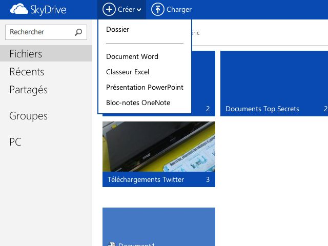 SkyDrive s'aligne sur Outlook.com