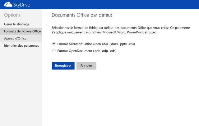 SkyDrive s'aligne sur Outlook.com