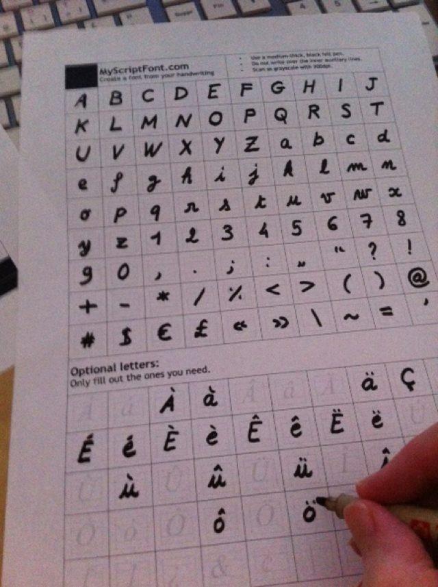 Créer une police avec sa propre écriture gratuitement