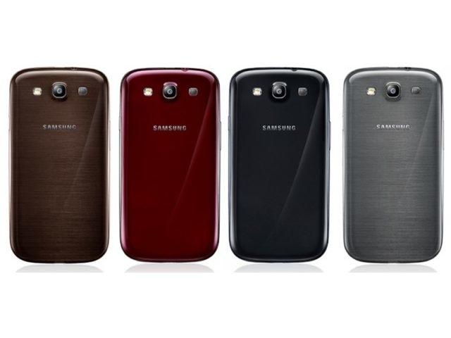 De nouvelles couleurs pour le Samsung Galaxy S3