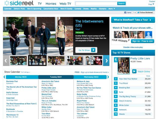 SideReel : une boite à outils pour vos séries