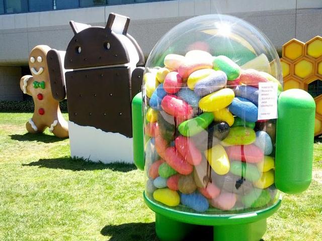 Ice Cream Sandwich + Jelly Bean = 16,7 % du parc Android