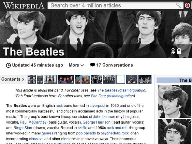Wikipédia planche sur une refonte de son interface