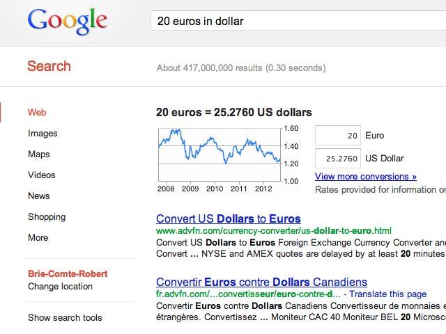 Google : un meilleur outil pour la conversion de devises
