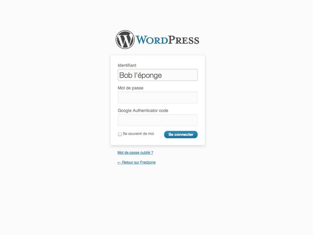 Protéger Wordpress avec Google Authenticator