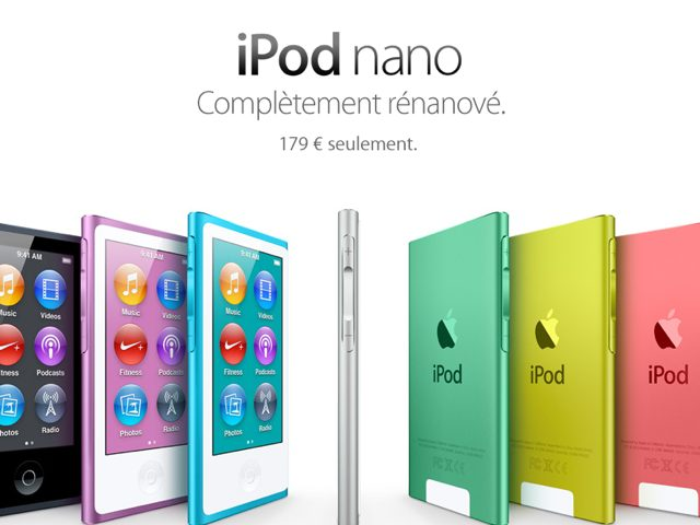 iPod Nano 2012 : un mini iPod Touch