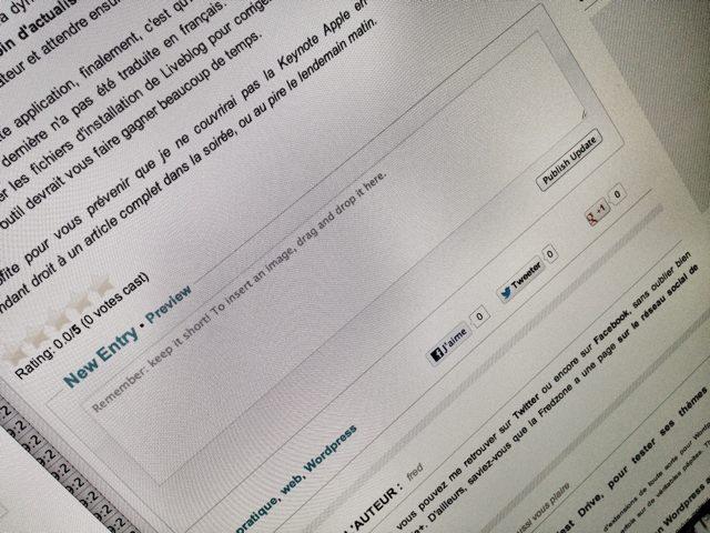 Liveblog, une extension Wordpress pour faciliter le live blogging