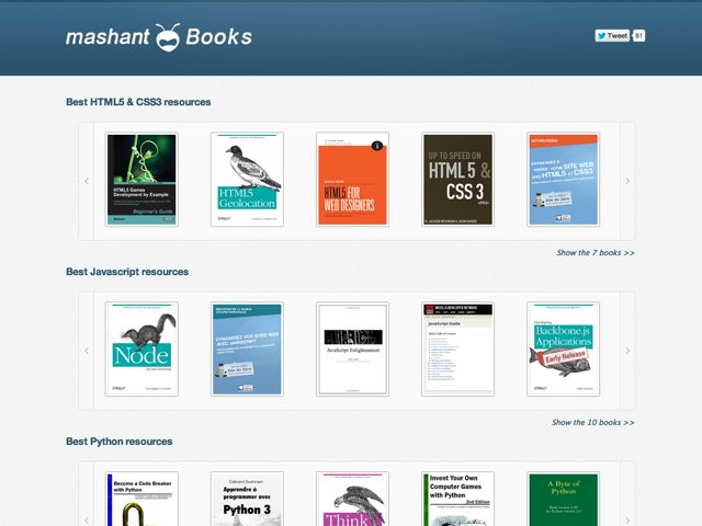 Mashant lance une collection d'ebooks gratuits dédiés au développement