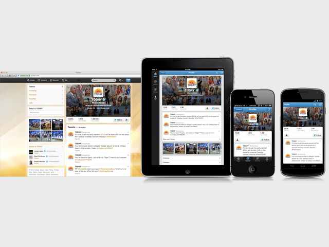 Twitter : une mise à jour pour le portail web et pour les applications