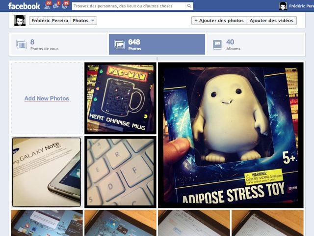 Facebook : le nouveau module photo en cours de déploiement