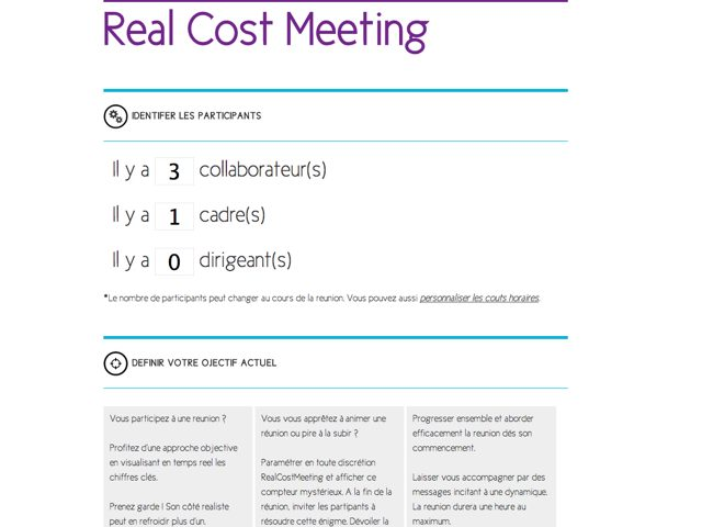 Real Cost Meeting passe la seconde