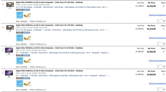 iMac : plus de stock disponible !