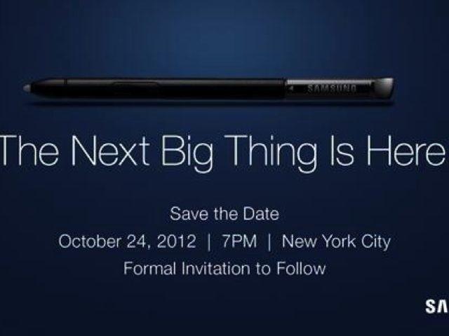 Samsung : un nouveau Galaxy Note pour le 24 octobre ?