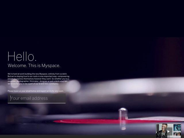 MySpace : un trailer vidéo pour la prochaine version