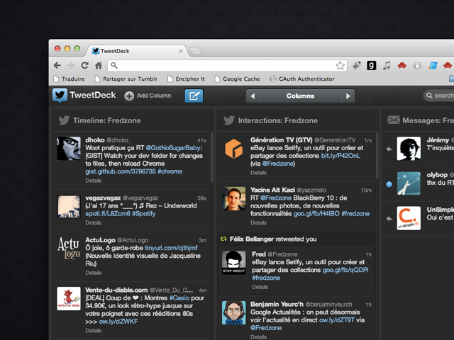 TweetDeck maintenant disponible dans Google Chrome