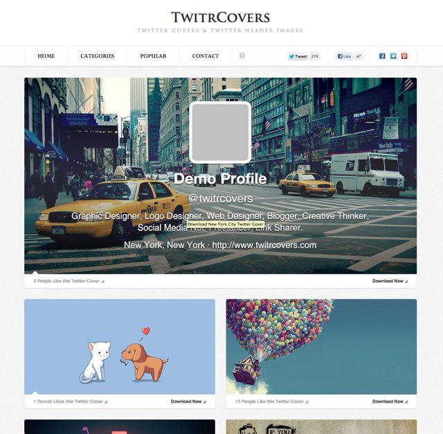 TwitrCovers : le plein de couvertures pour ton Twitter