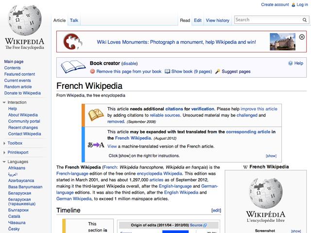 Créer des ebooks avec la Wikipédia