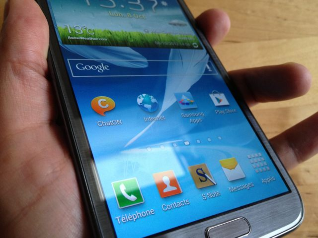 Test : Samsung Galaxy Note 2