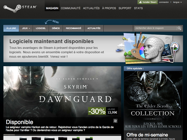 Steam : les applications font leur entrée