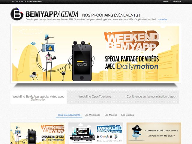 BeMyApp : un week-end avec Dailymotion du 19 au 21 octobre !