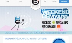 BeMyApp : un week-end NFC avec Orange du 5 au 7 octobre !