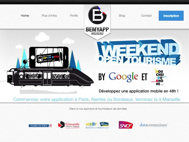 BeMyApp : un week-end open-tourisme avec Google et Bouches-du-Rhône du 9 au 11 novembre !