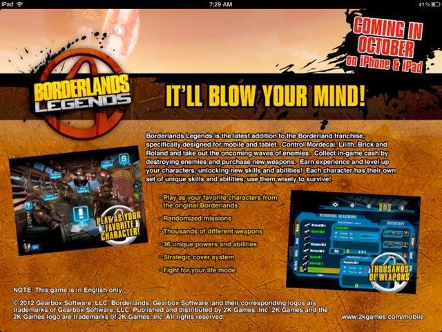 Borderlands Legends : arrivée sur iOS avant la fin du mois
