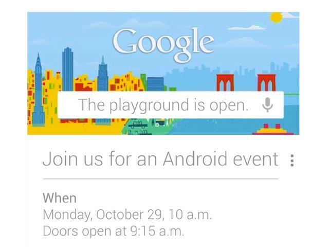 Android 4.2 et le LG Nexus pourraient être dévoilés le 29 octobre