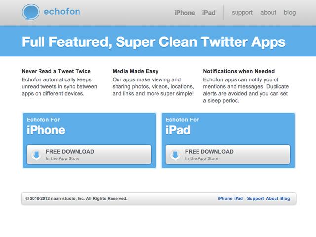 Echofon : fin de partie pour les clients Mac et Windows