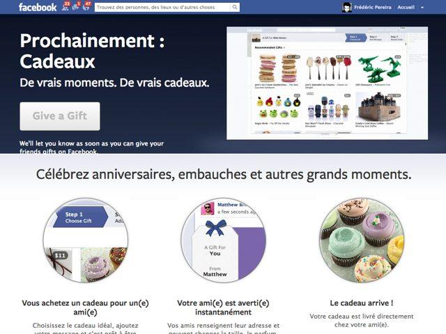 Facebook Gifts : offrez de vrais cadeaux à vos amis !