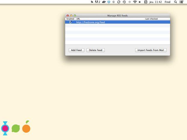 Intégrer des Flux RSS au Centre de Notifications de OS X Mountain Lion
