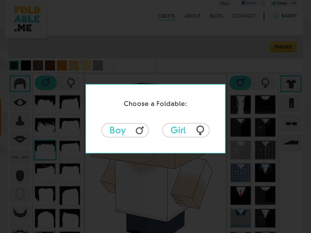 Foldable.me, pour créer une mascotte à votre image