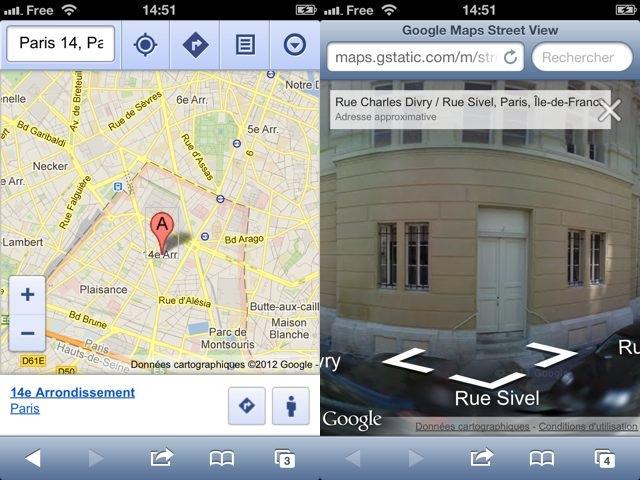 Google Street View : débarquement sur Safari iOS