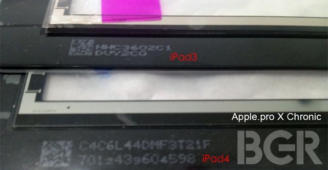 iPad 4 : une photo de l'écran ?!