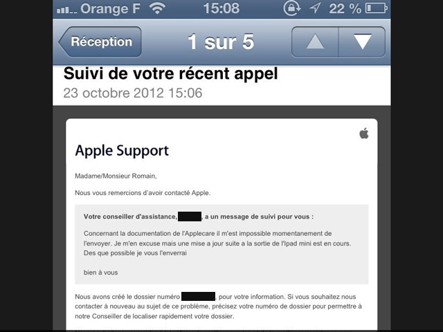 L'iPad Mini confirmé par le support Apple