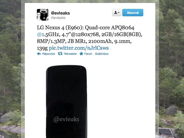 LG Nexus : de nouvelles photos et les spécifications techniques en prime