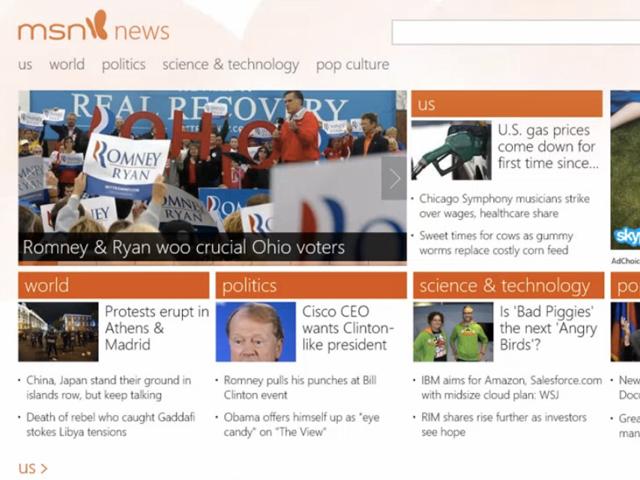 MSN : une nouvelle version pour accompagner Windows 8 et Internet Explorer 10