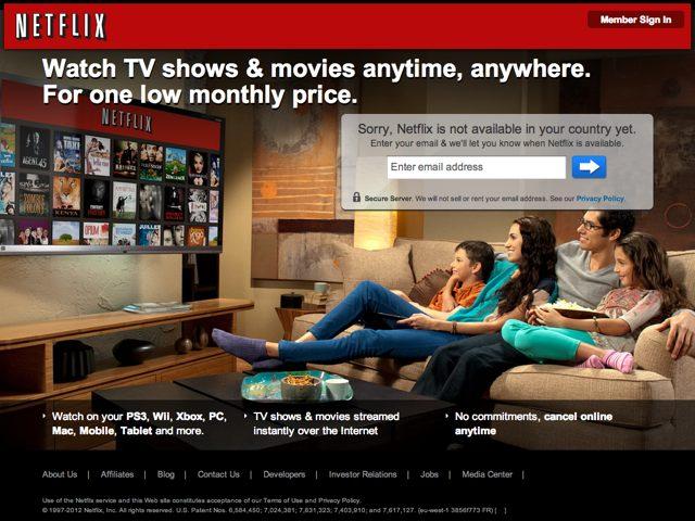 Netflix : arrivée en France pour début 2013 ?